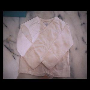 Ralph Lauren white two piece snap baby pajamas